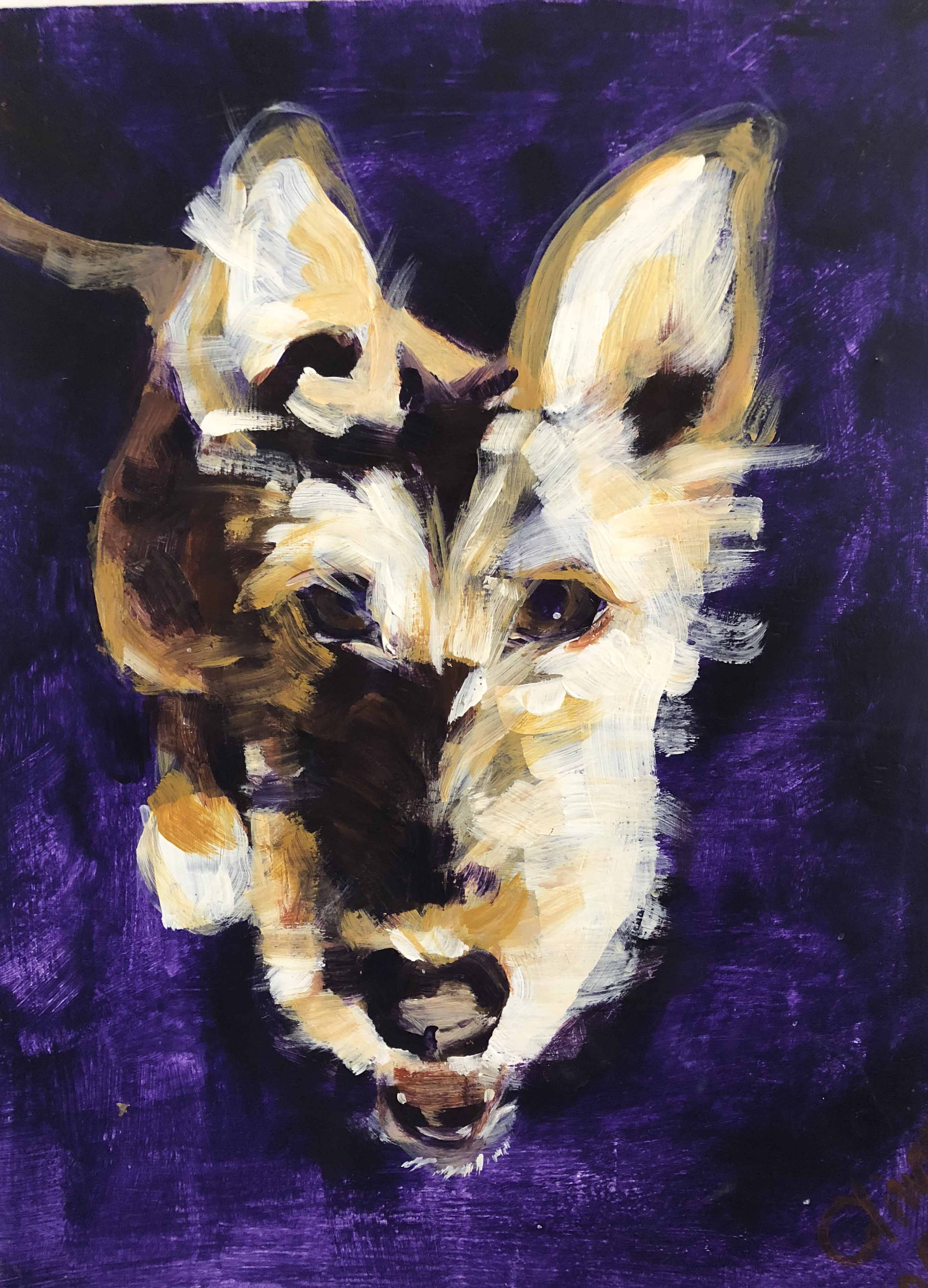 hond acryl